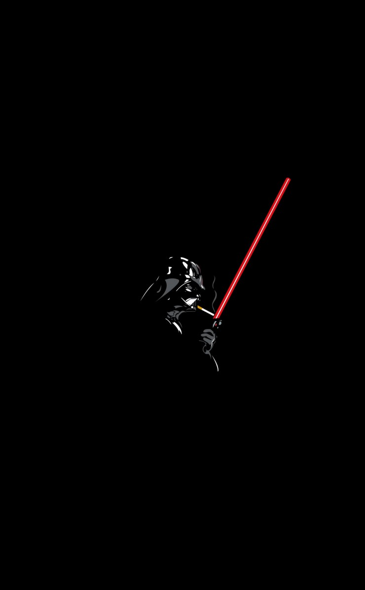 Darth Vader Lighting a Cigarette Wallpaper for Apple iPhone 4 / 4s