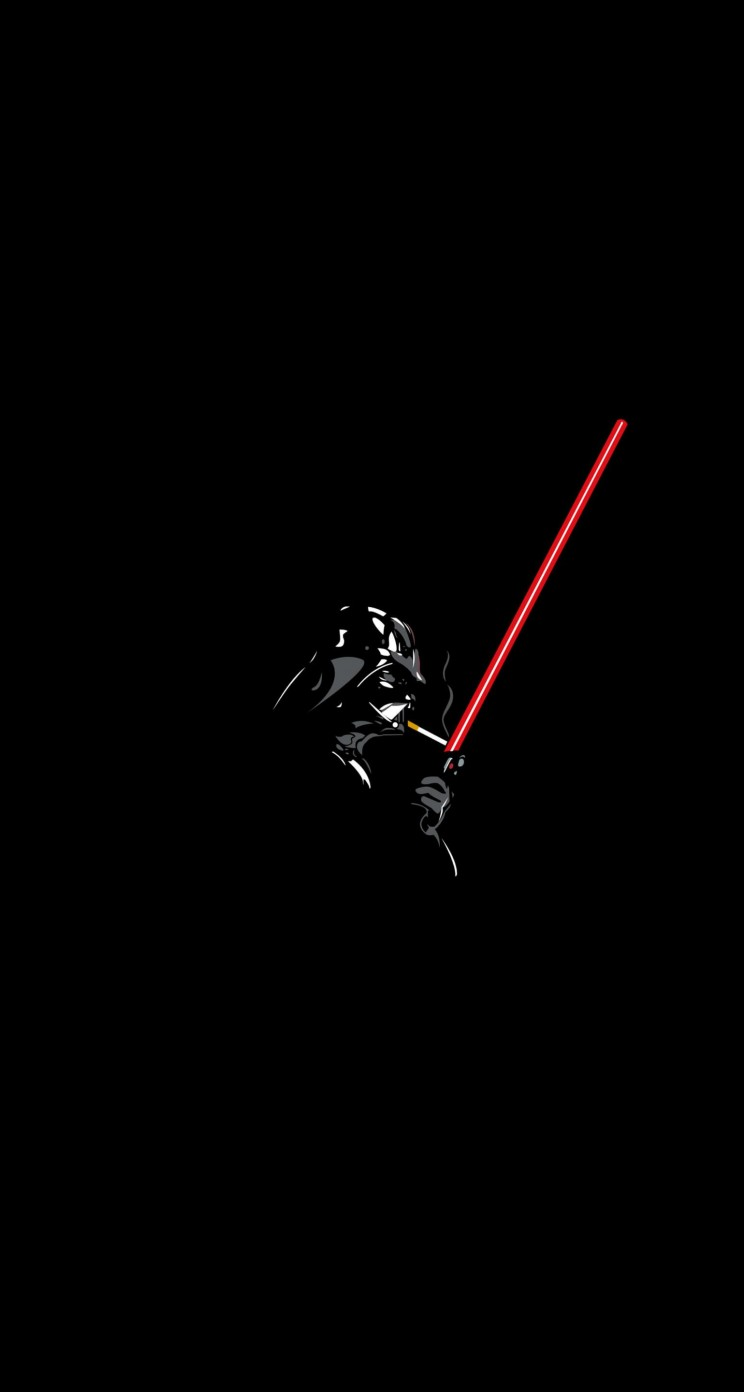 Darth Vader Lighting a Cigarette Wallpaper for Apple iPhone 5 / 5s