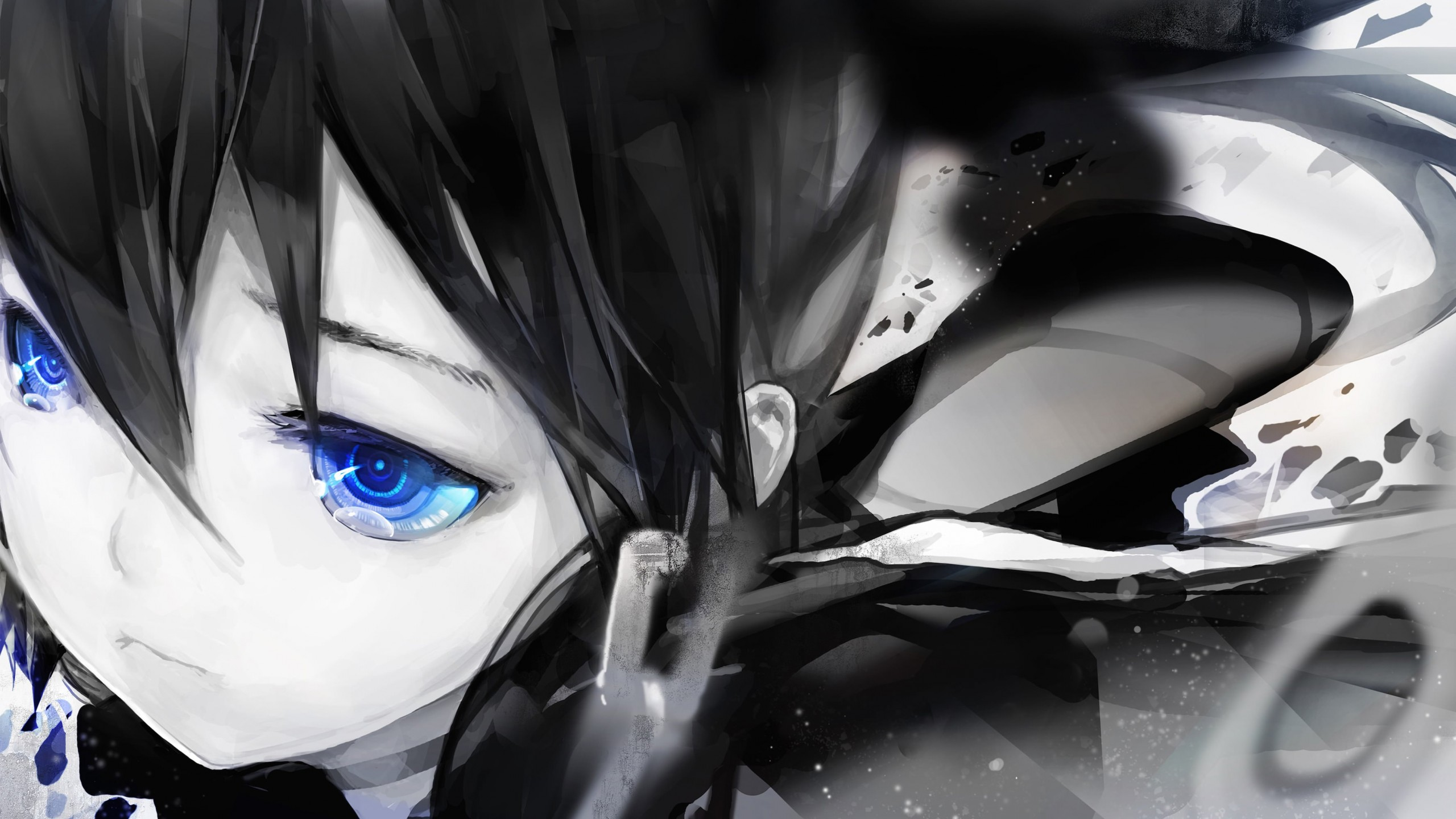 "Diamond Eyes ""Black Rock Shooter"" Wallpaper for Desktop 2560x1440"