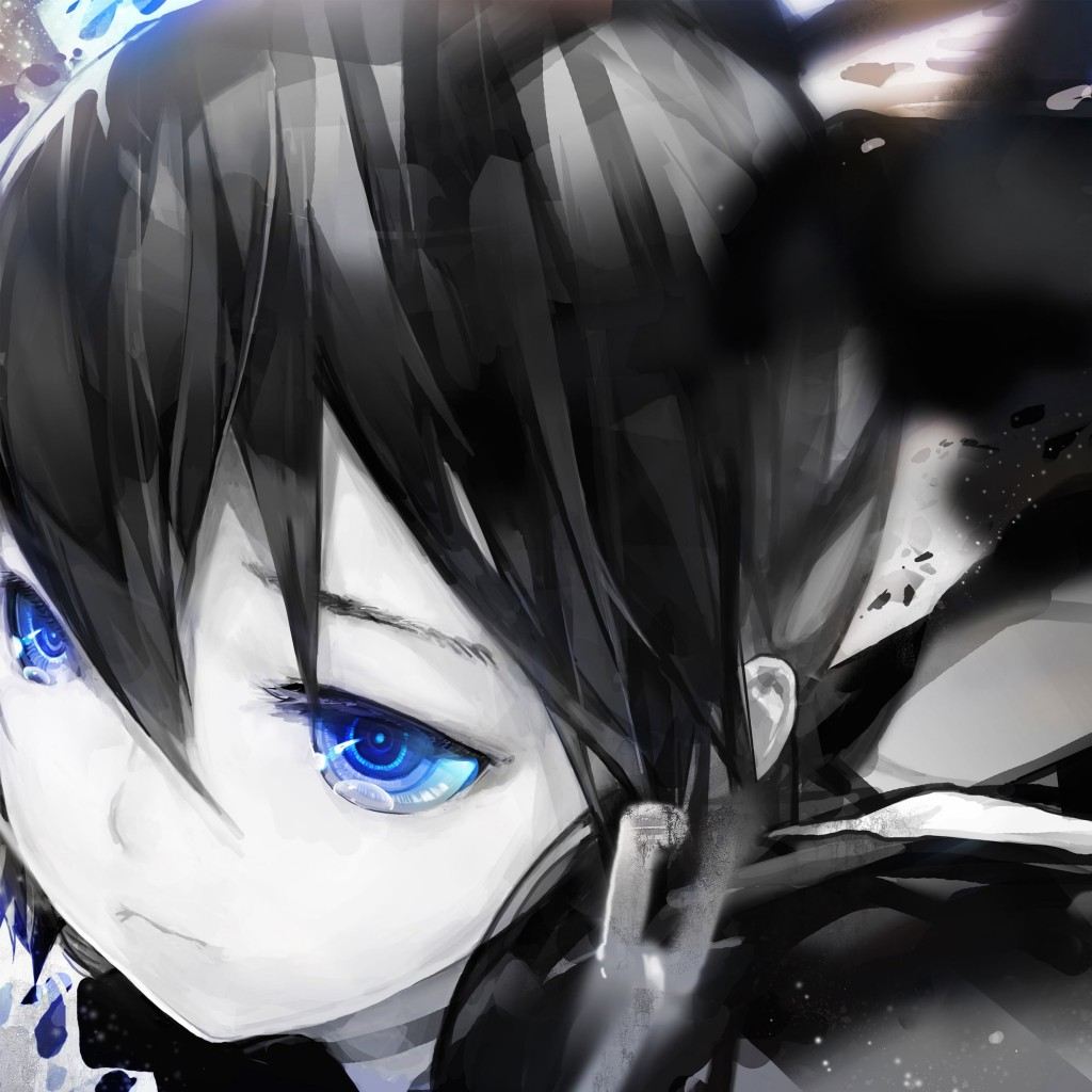 "Diamond Eyes ""Black Rock Shooter"" Wallpaper for Apple iPad"