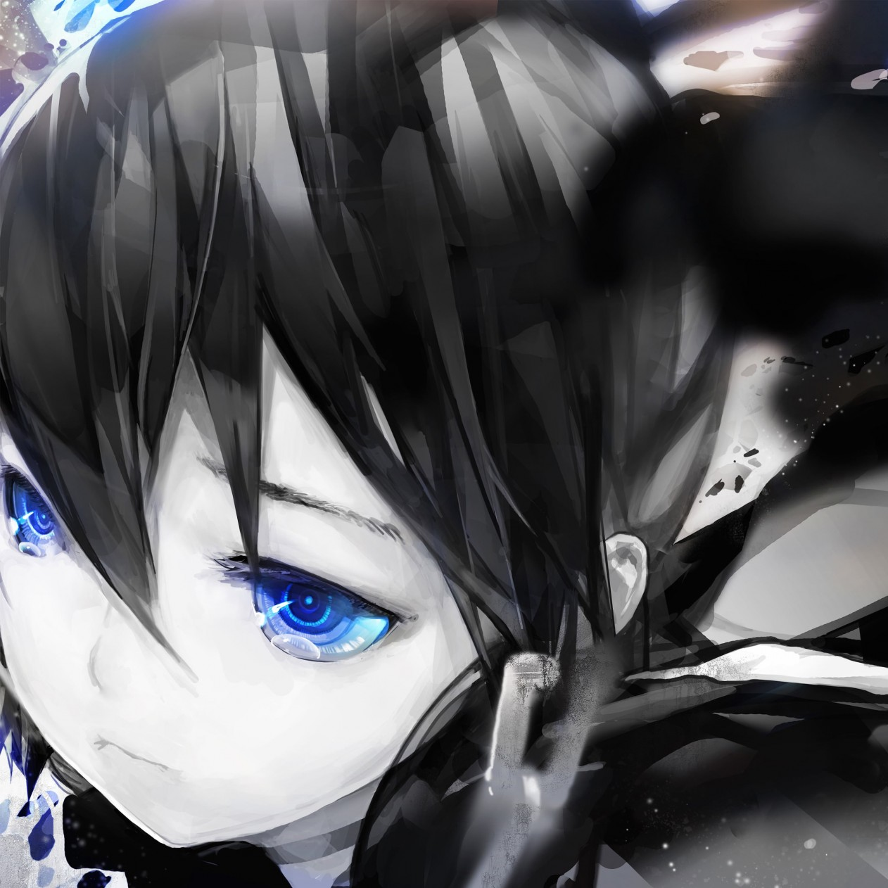 "Diamond Eyes ""Black Rock Shooter"" Wallpaper for Apple iPad mini"