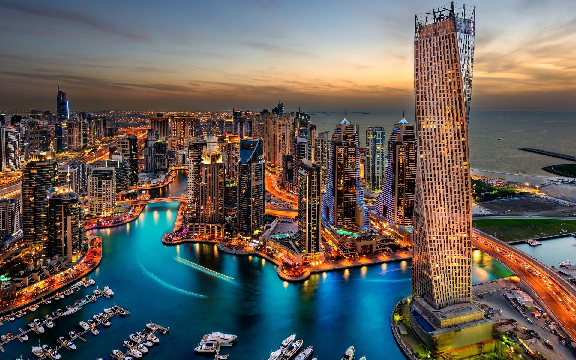 Dubai Skyline Wallpaper for Desktop 1920x1200