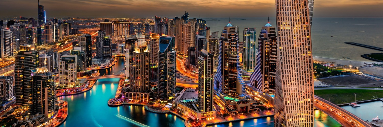 Dubai Skyline Wallpaper for Social Media Twitter Header