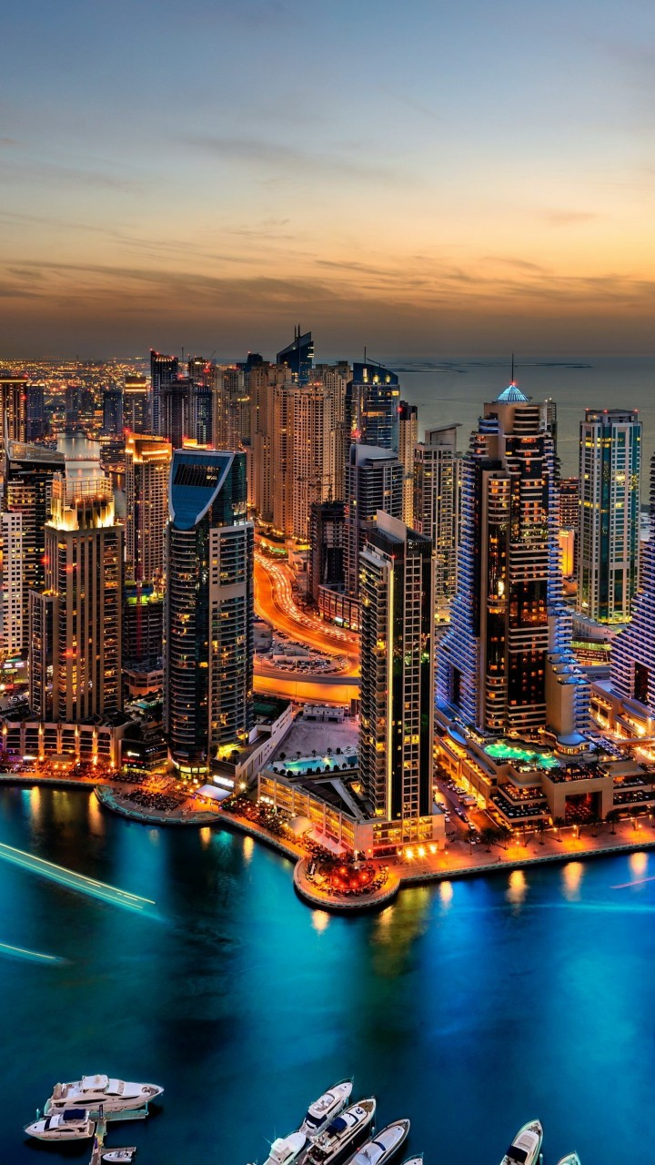 Dubai Skyline Wallpaper for Xiaomi Redmi 1S