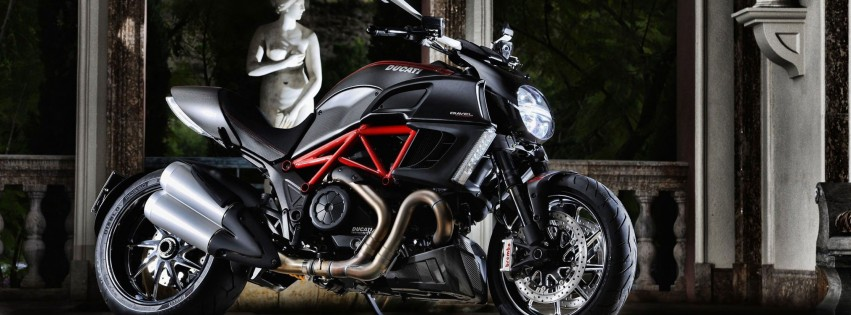 Ducati Diavel Wallpaper for Social Media Facebook Cover