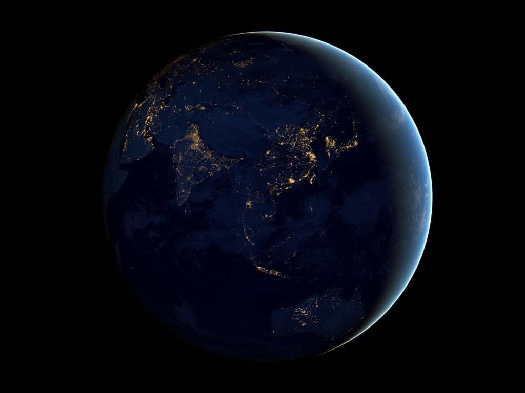 Earth At Night Seen From Space Wallpaper for Desktop 1024x768