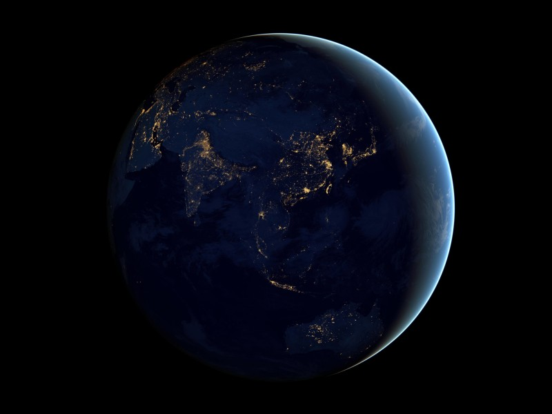 Earth At Night Seen From Space Wallpaper for Desktop 800x600