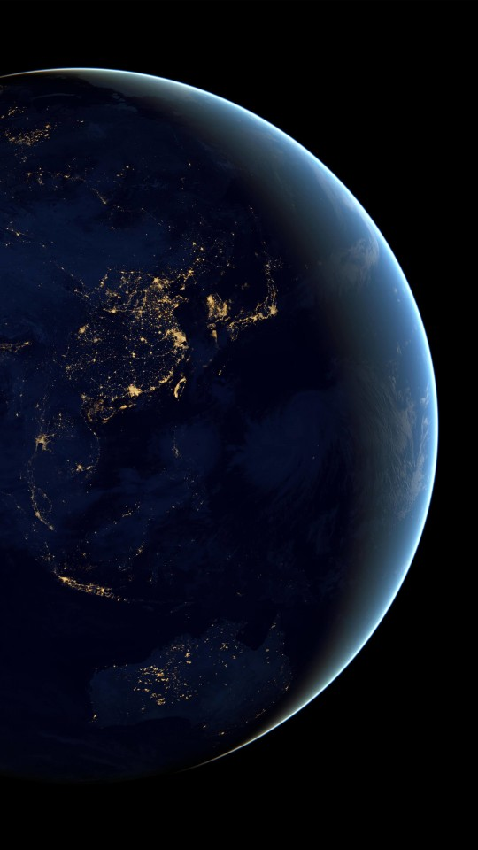 Earth At Night Seen From Space Wallpaper for SAMSUNG Galaxy S4 Mini