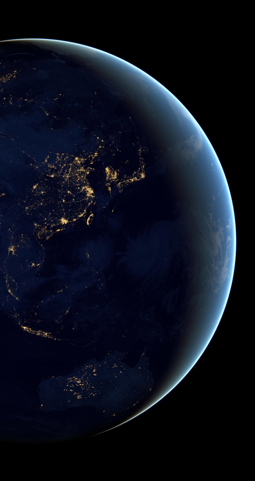 Earth At Night Seen From Space Wallpaper for Apple iPhone 6 / 6s