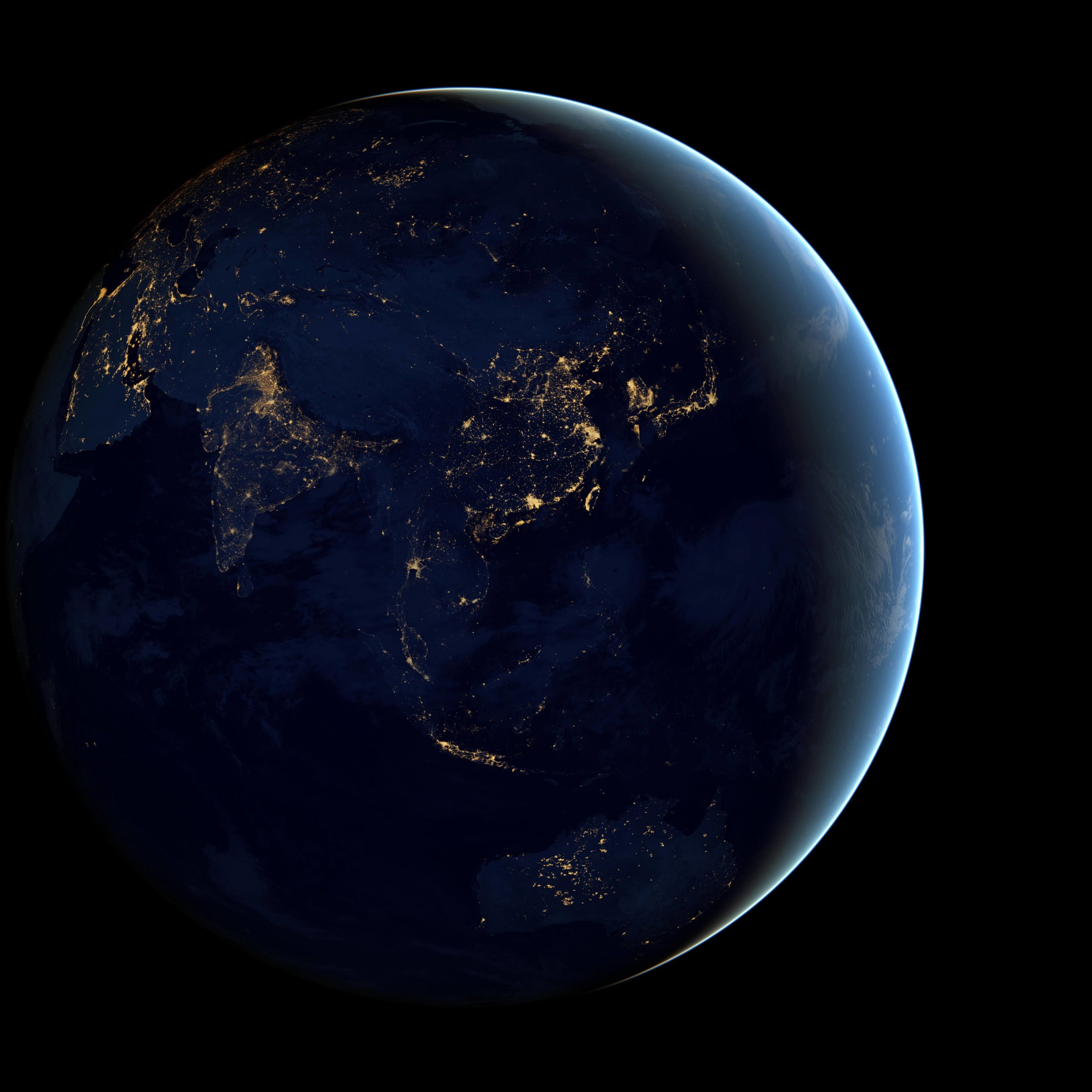 Earth At Night Seen From Space Wallpaper for Apple iPhone 6 Plus