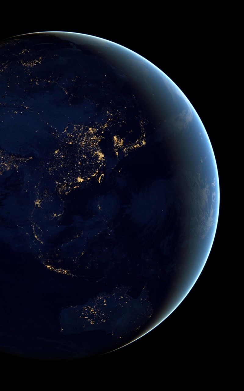 Earth At Night Seen From Space Wallpaper for Amazon Kindle Fire HD