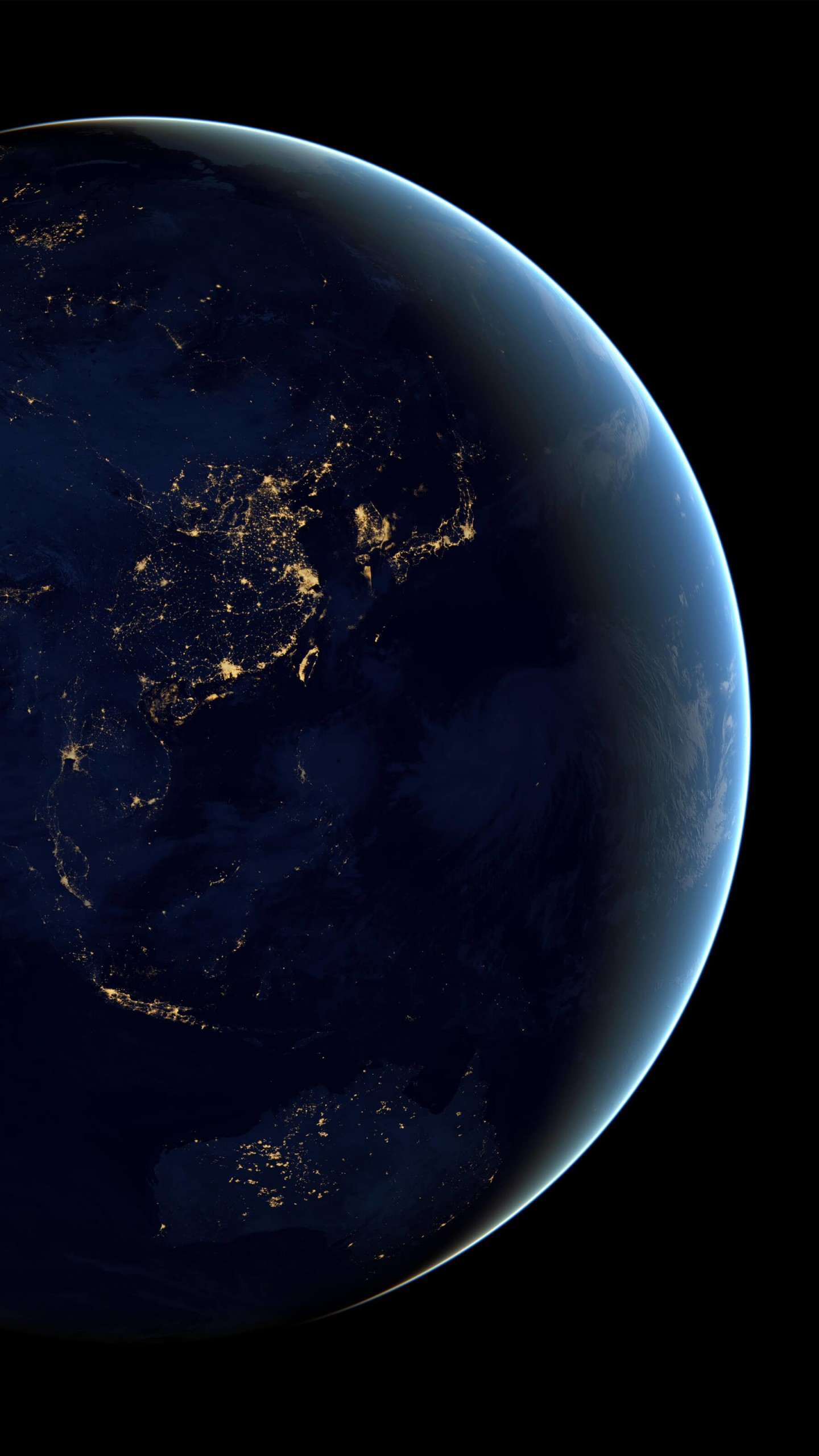 Earth At Night Seen From Space Wallpaper for LG G3