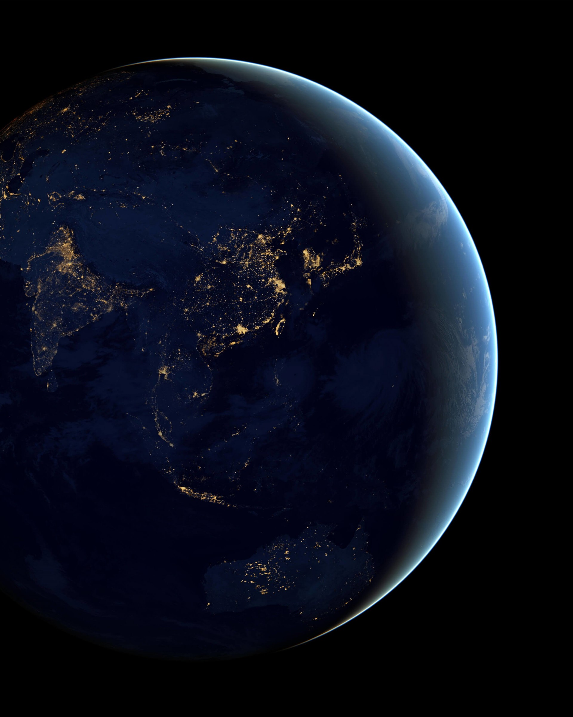 Download Earth At Night Seen From Space HD Wallpaper For