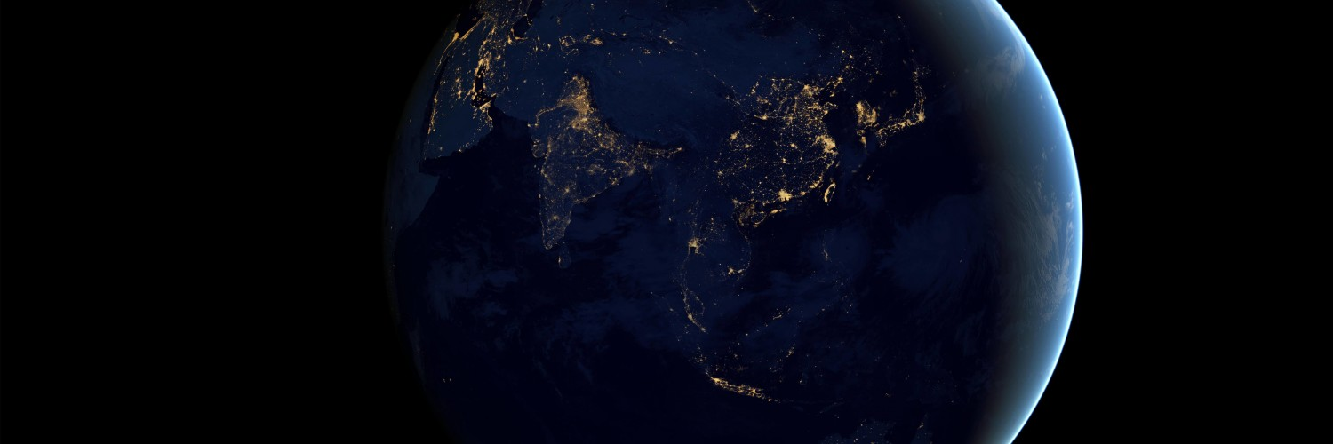 Earth At Night Seen From Space Wallpaper for Social Media Twitter Header