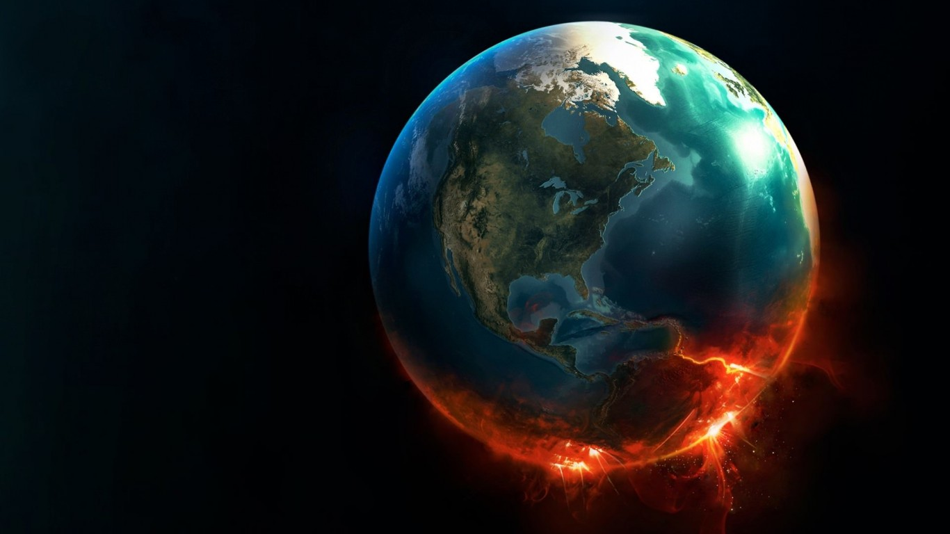 Earth Implosion Wallpaper for Desktop 1366x768