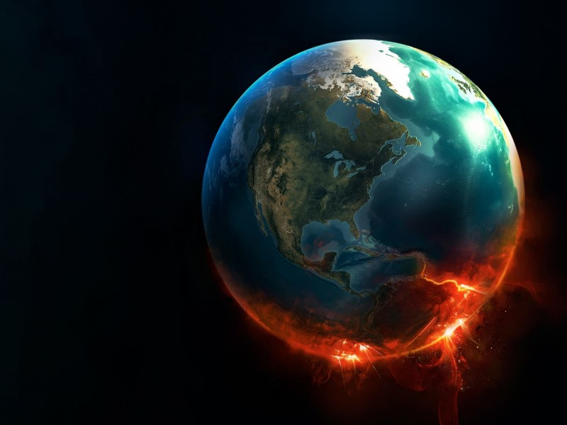 Earth Implosion Wallpaper for Desktop 800x600