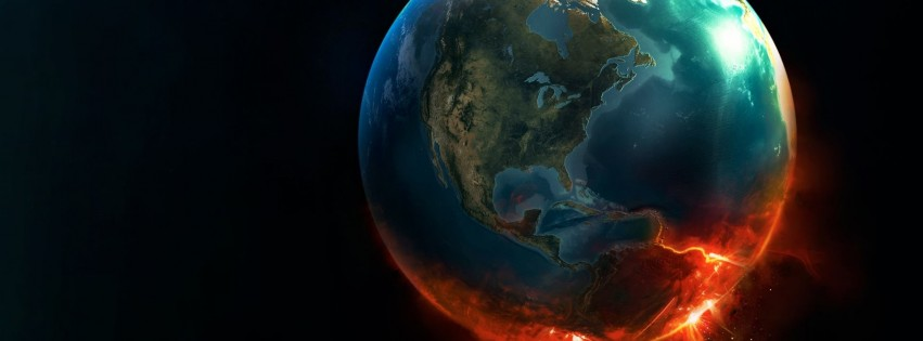 Earth Implosion Wallpaper for Social Media Facebook Cover