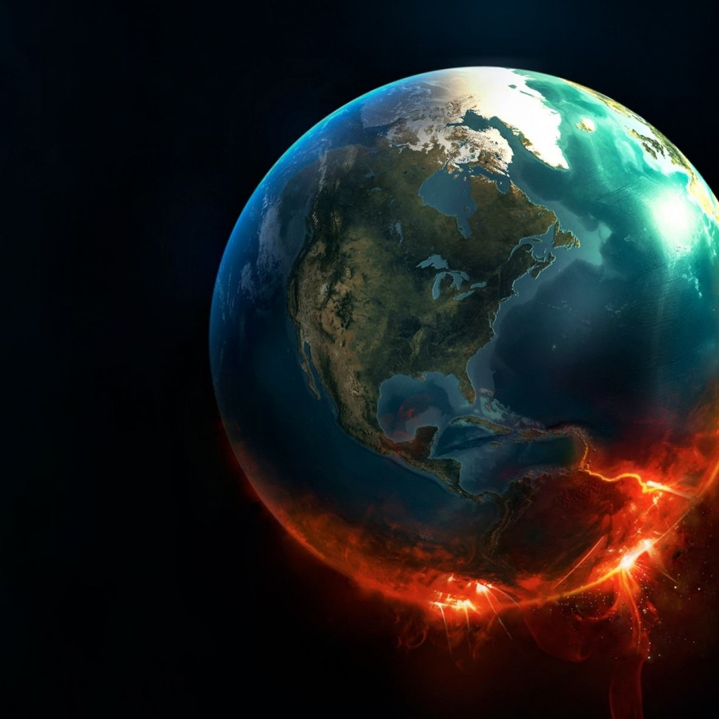 Earth Implosion Wallpaper for Apple iPad