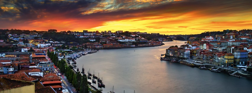 Enchanting Porto Wallpaper for Social Media Facebook Cover