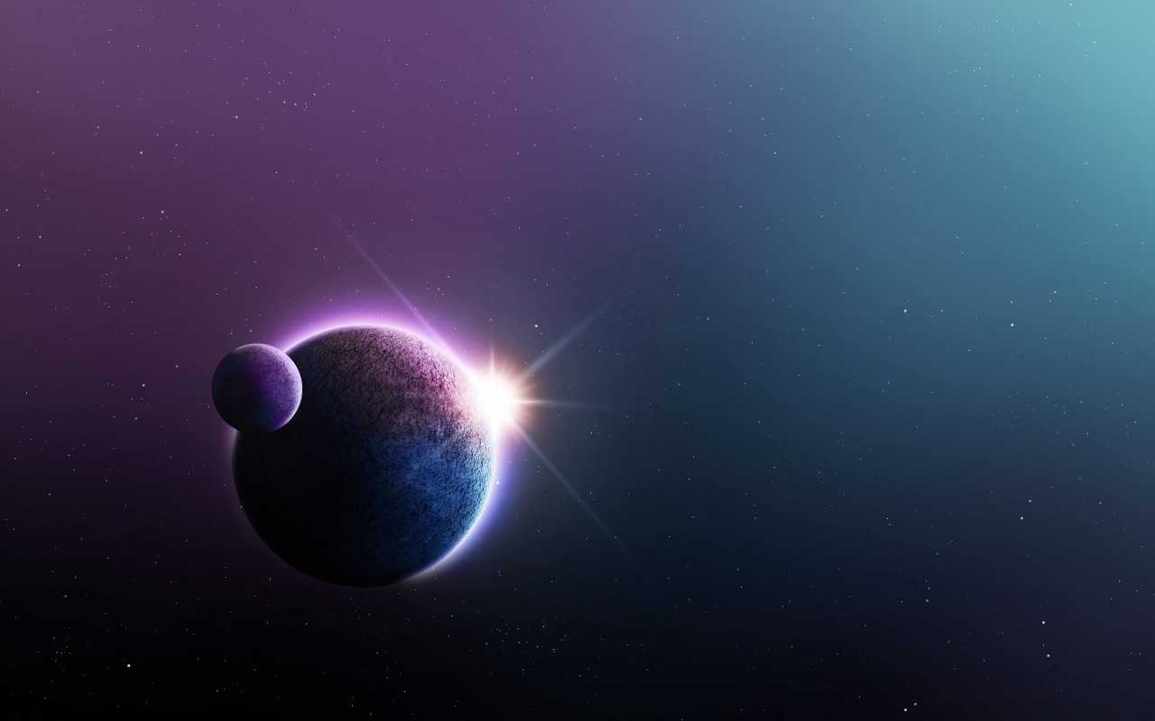 Far-Off Planets Wallpaper for Desktop 1280x800