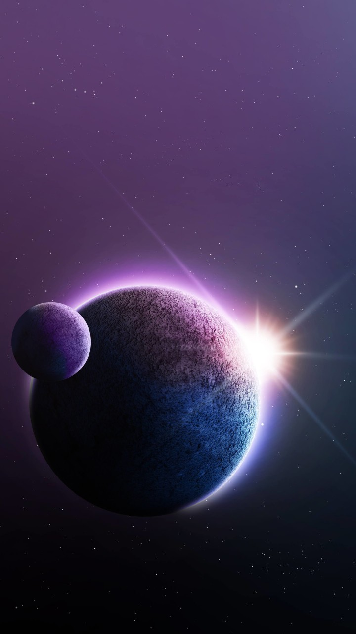 Far-Off Planets Wallpaper for Google Galaxy Nexus