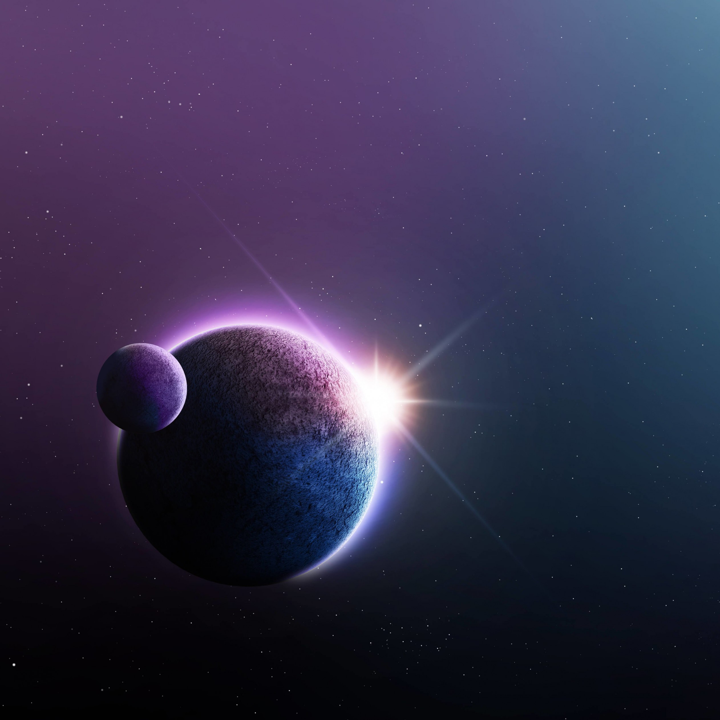 Far-Off Planets Wallpaper for Apple iPad 3