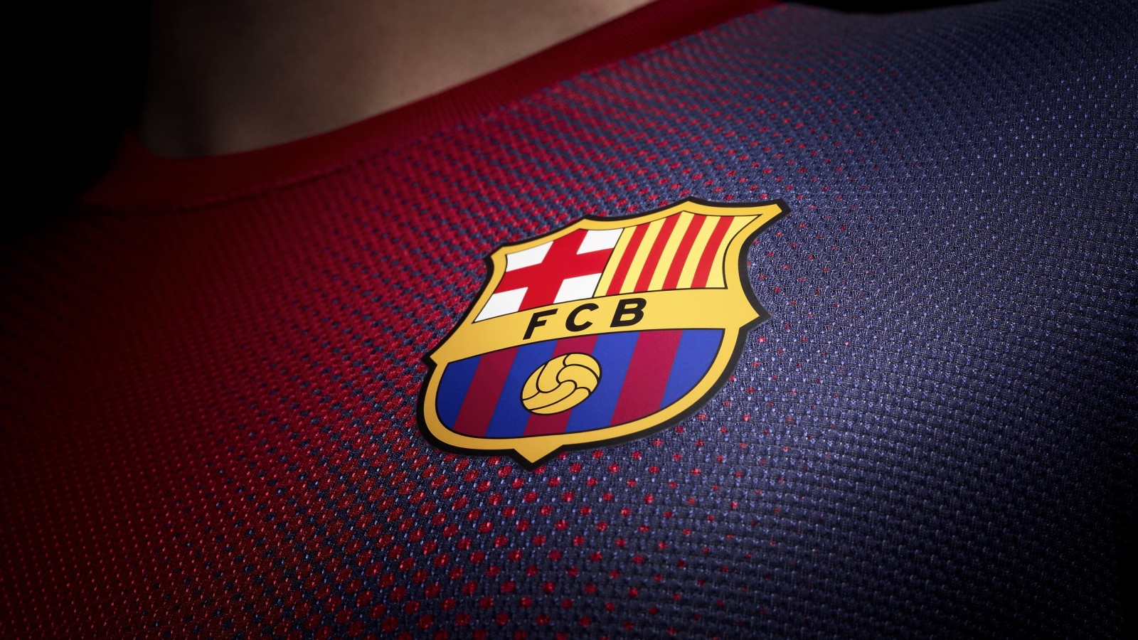 FC Barcelona Logo Shirt Wallpaper for Desktop 1600x900