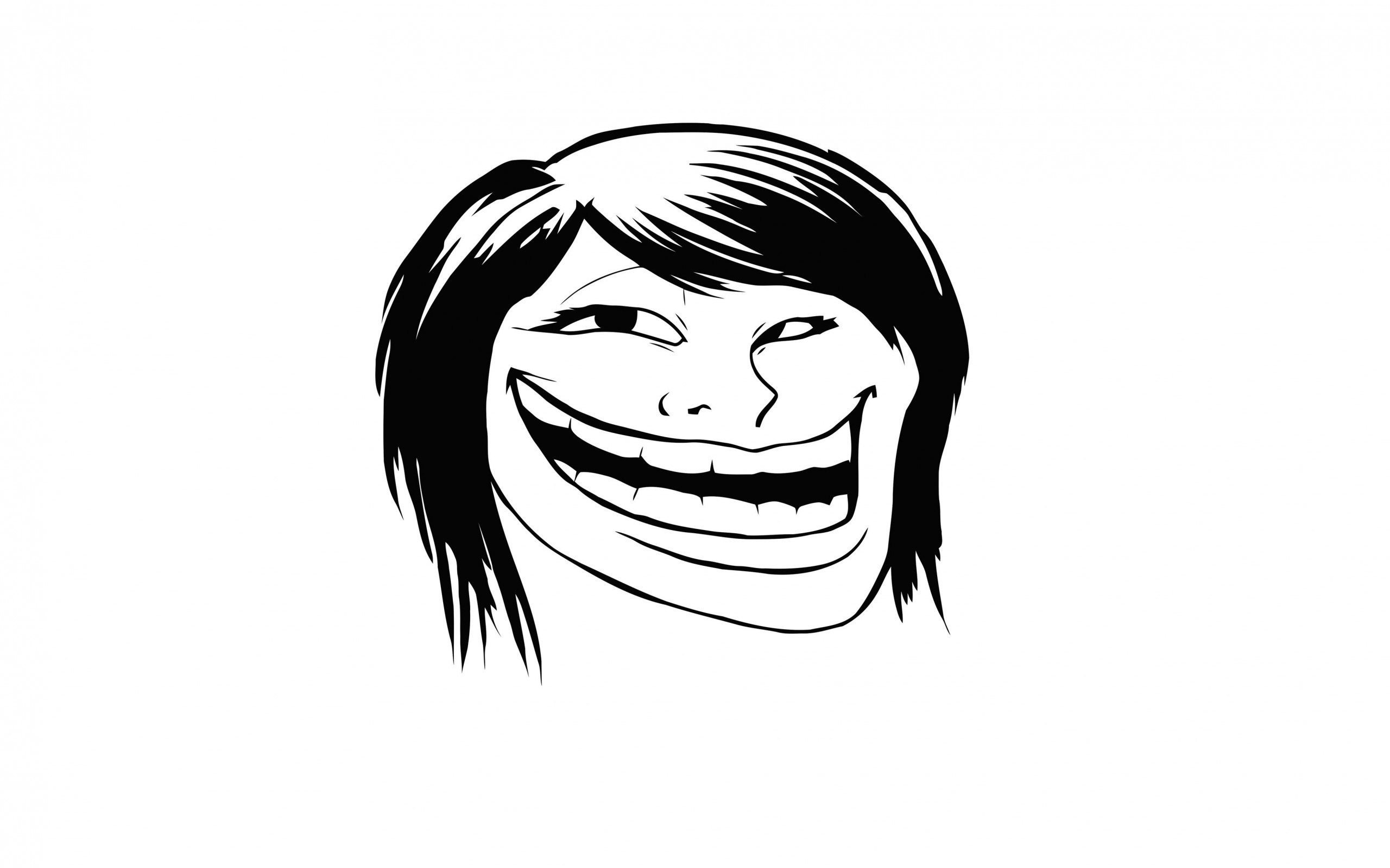 Female Troll Face Meme Wallpaper for Desktop 2560x1600