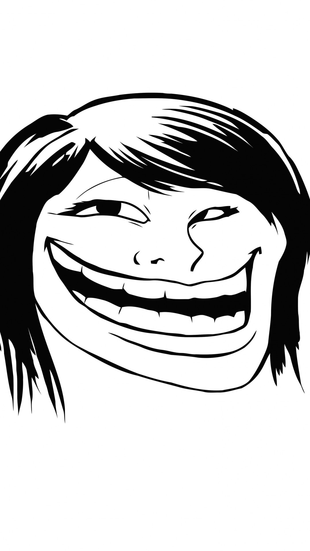 Female Troll Face Meme Wallpaper for Google Nexus 5X