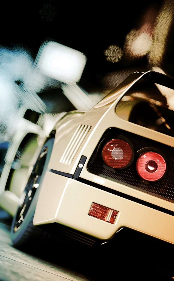 Ferrari F40 Gran Turismo Wallpaper for Apple iPhone 4 / 4s