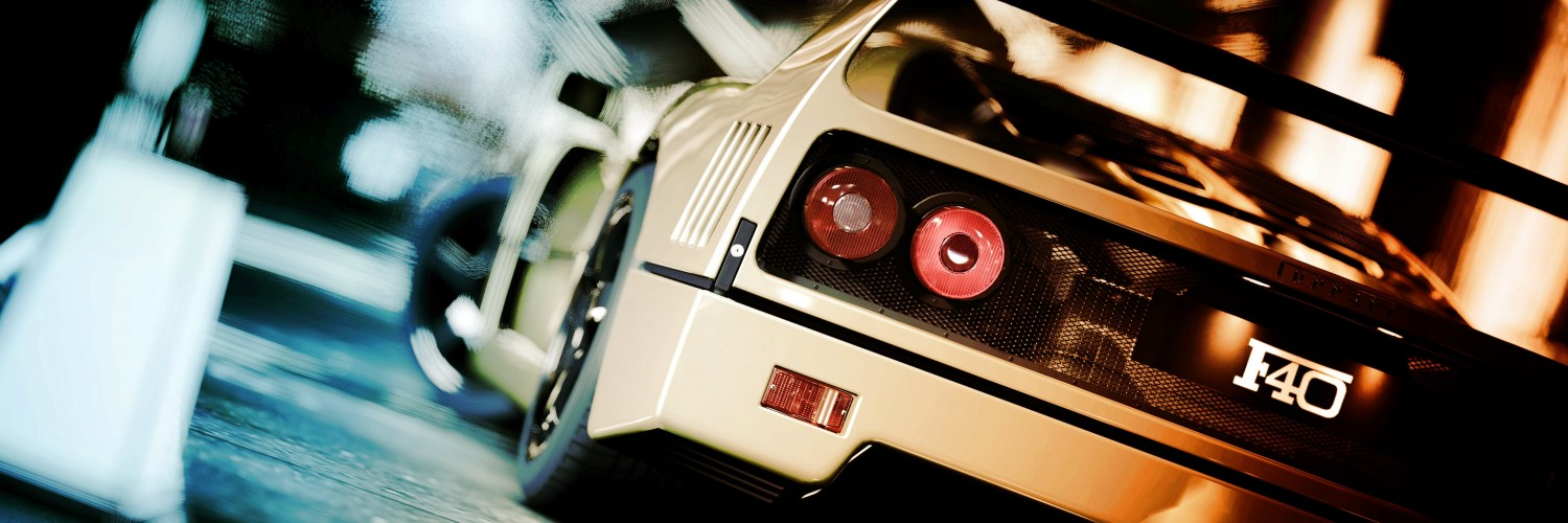 Ferrari F40 Gran Turismo Wallpaper for Social Media Twitter Header