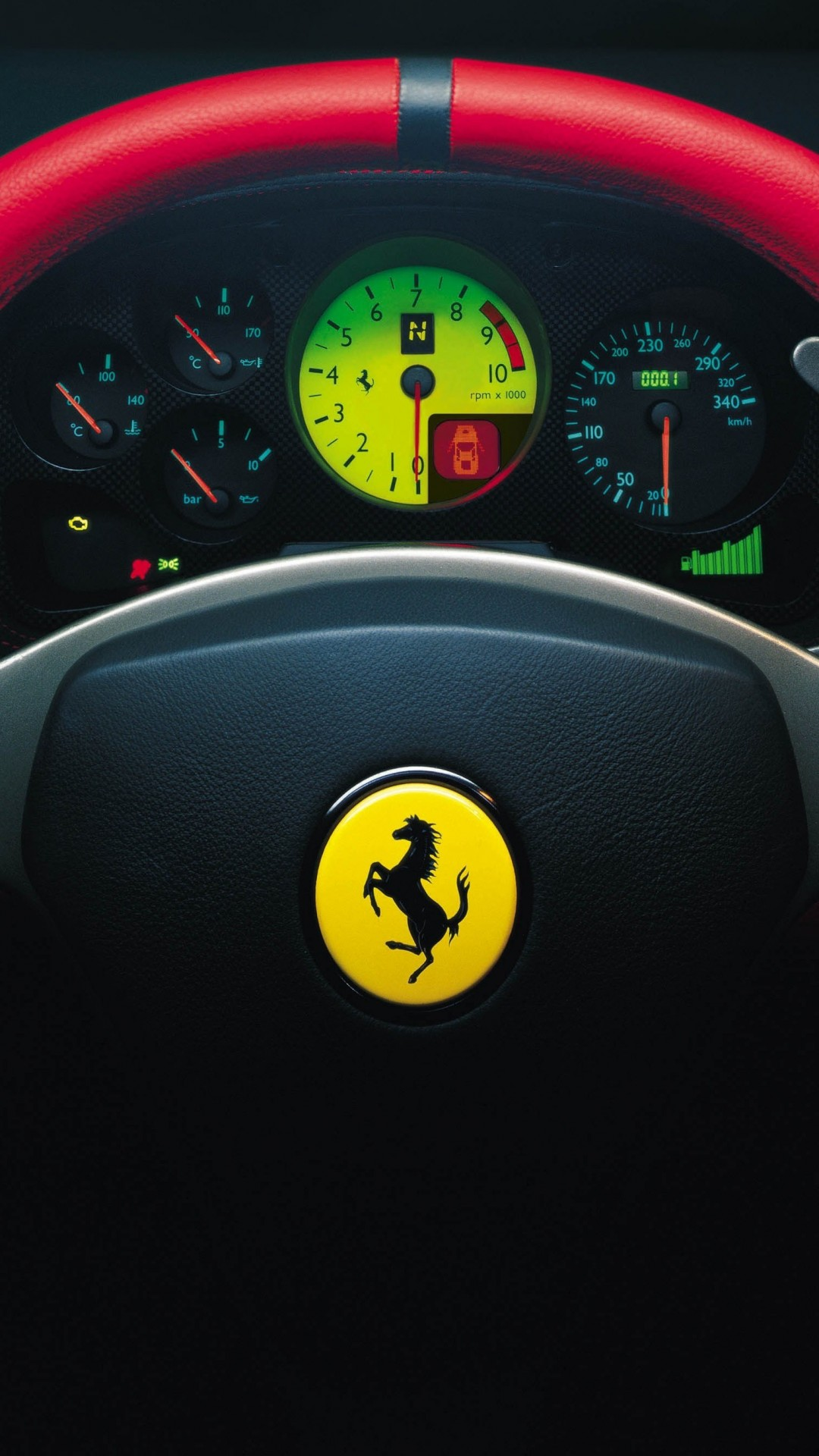 Ferrari Steering Wheel Wallpaper for HTC One