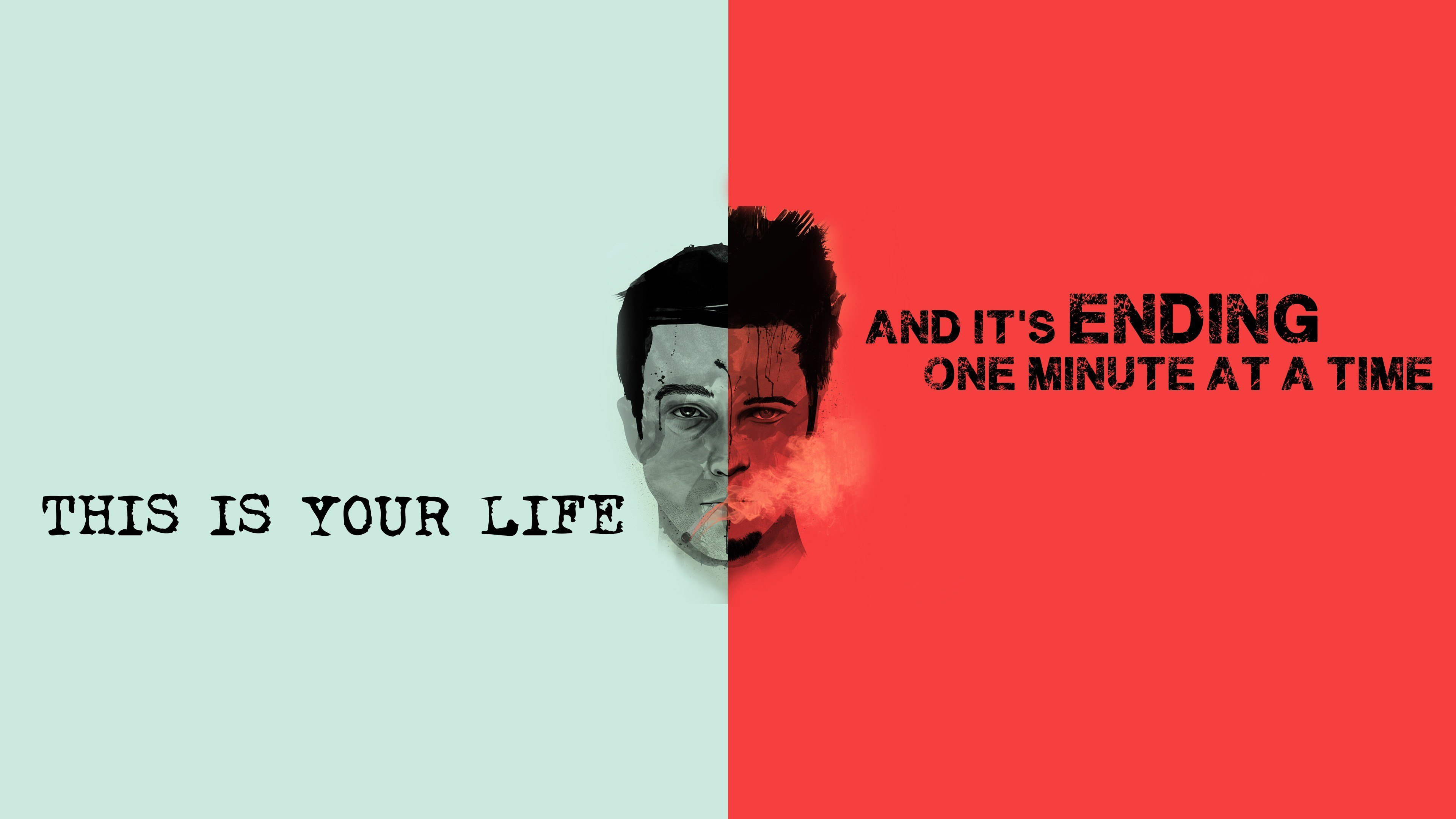 Fight Club Quote Wallpaper for Desktop 4K 3840x2160