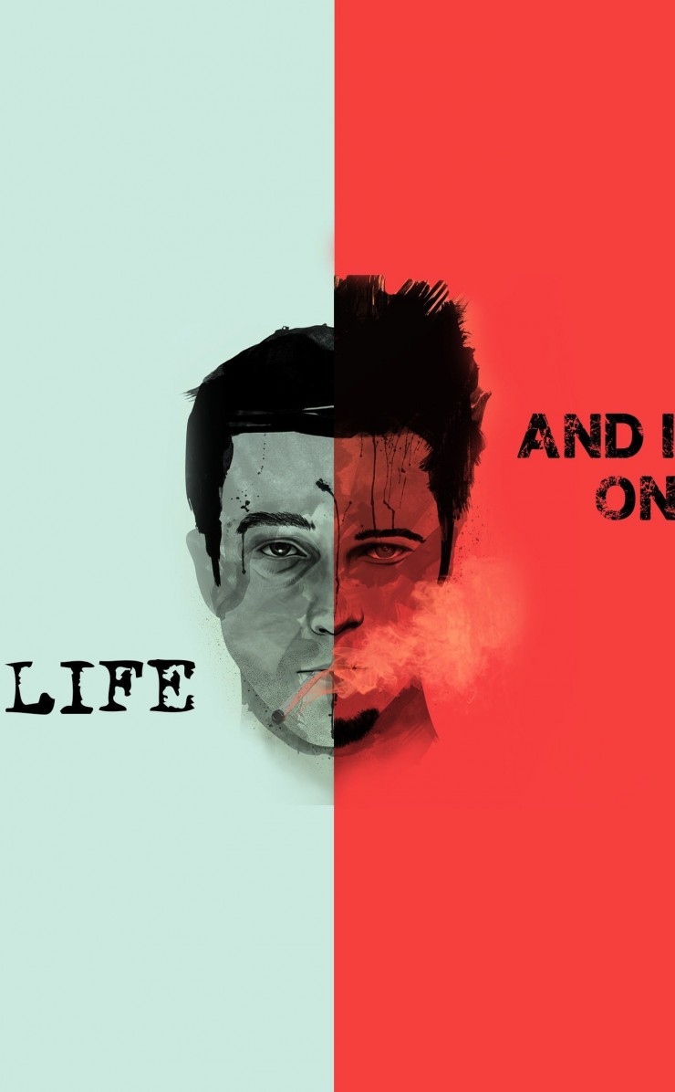Fight Club Quote Wallpaper for Apple iPhone 4 / 4s