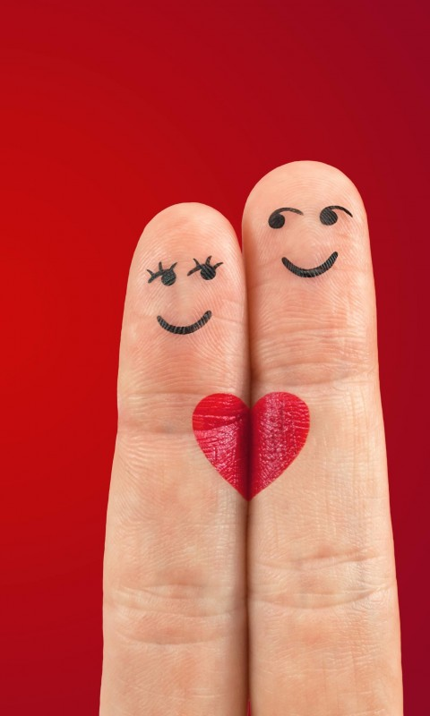 Fingers in Love Wallpaper for HTC Desire HD