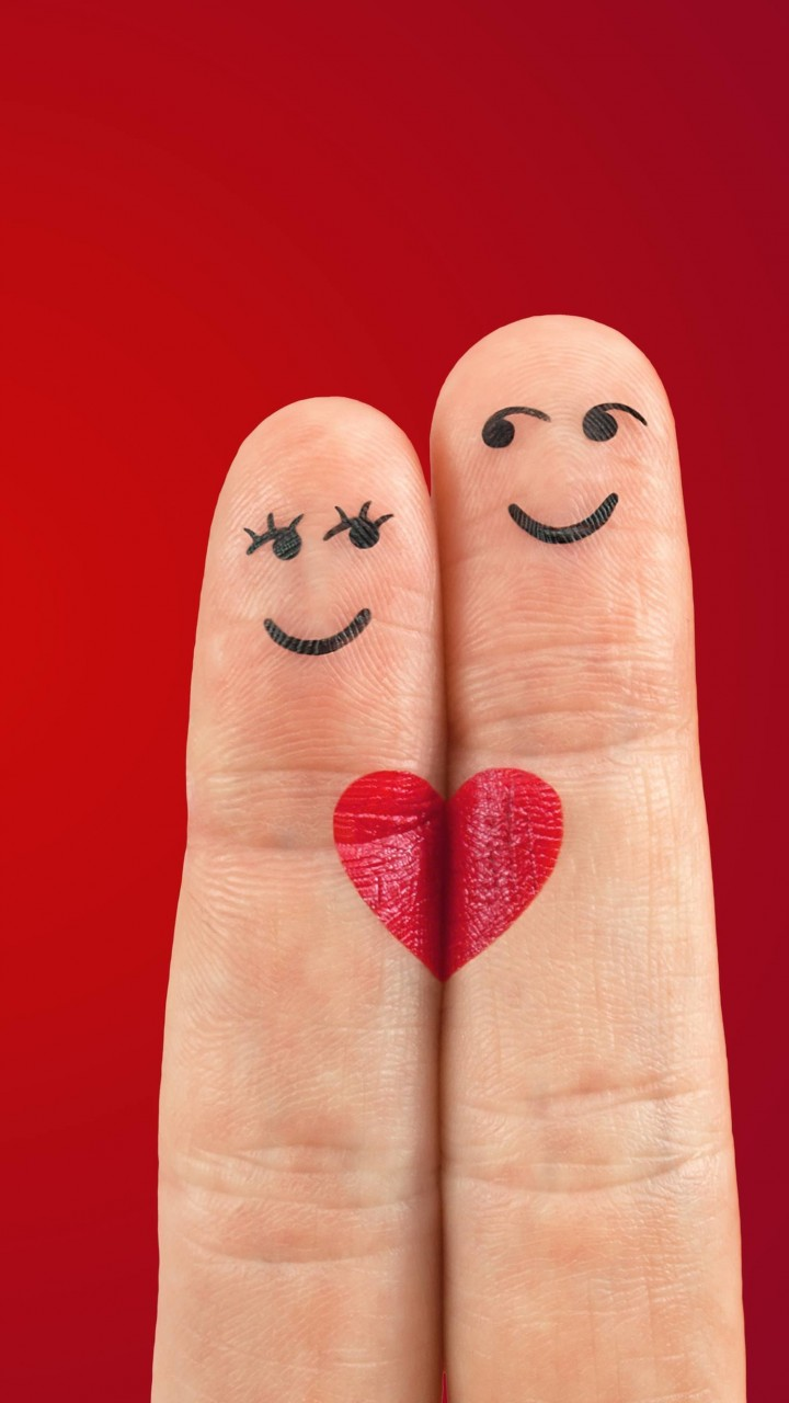 Fingers in Love Wallpaper for HTC One mini