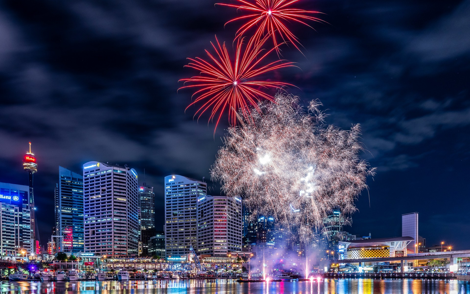 Fireworks In Darling Harbour Wallpaper for Desktop 1920x1200