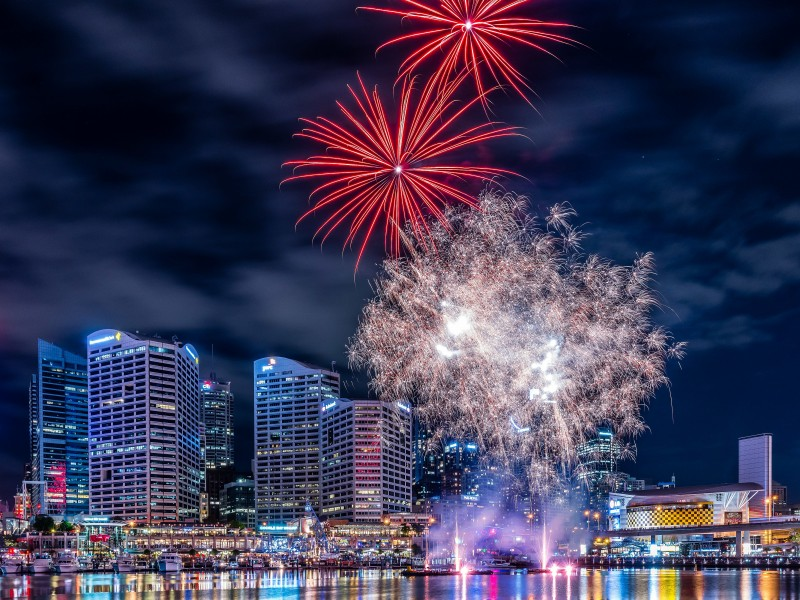 Fireworks In Darling Harbour Wallpaper for Desktop 800x600