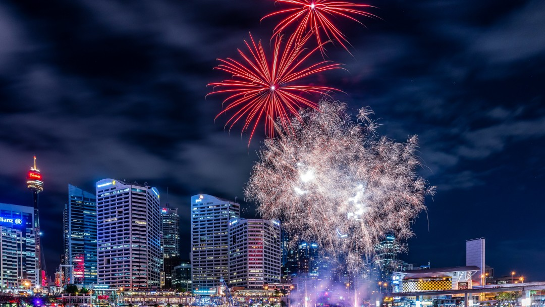 Fireworks In Darling Harbour Wallpaper for Social Media Google Plus Cover