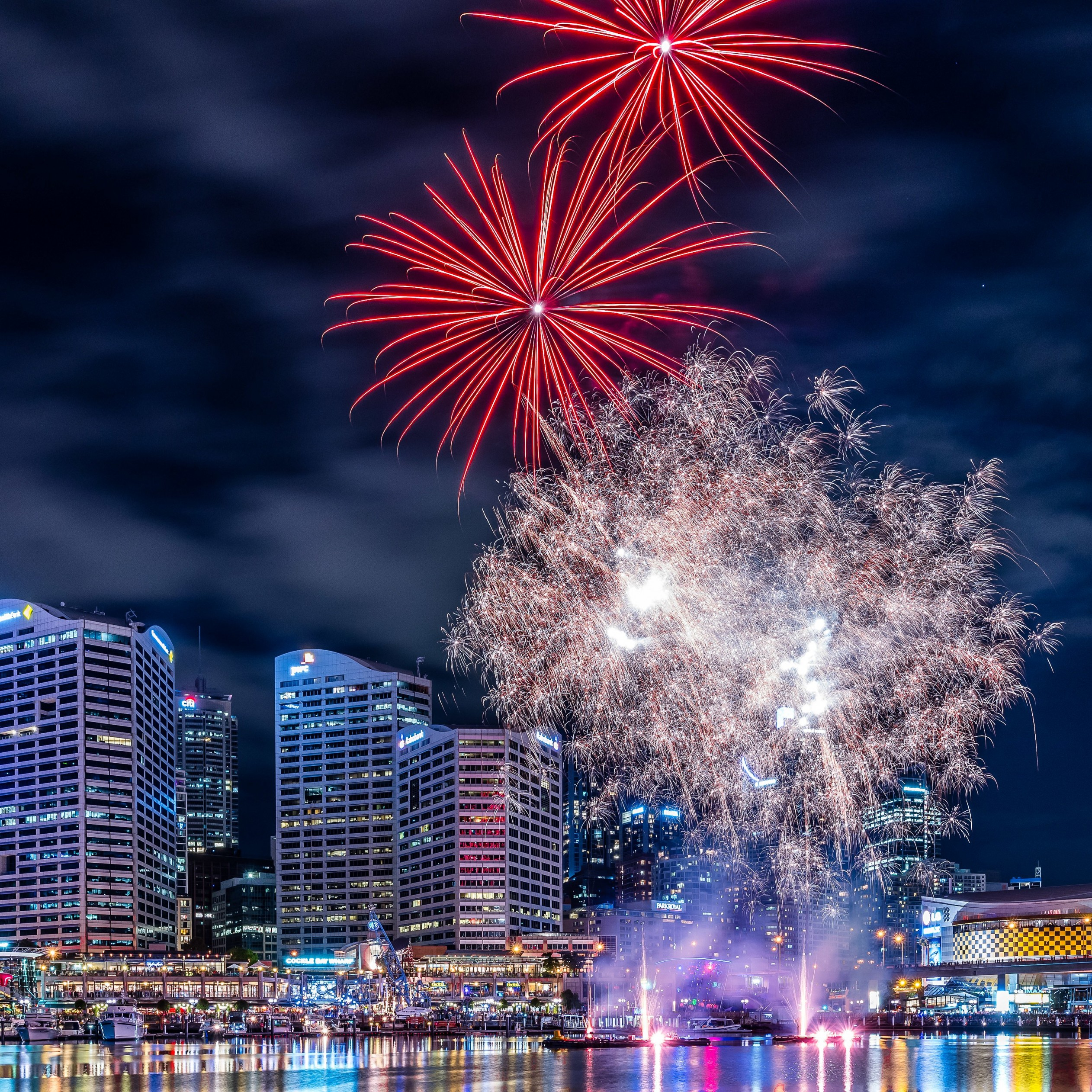 Fireworks In Darling Harbour Wallpaper for Apple iPad mini 2