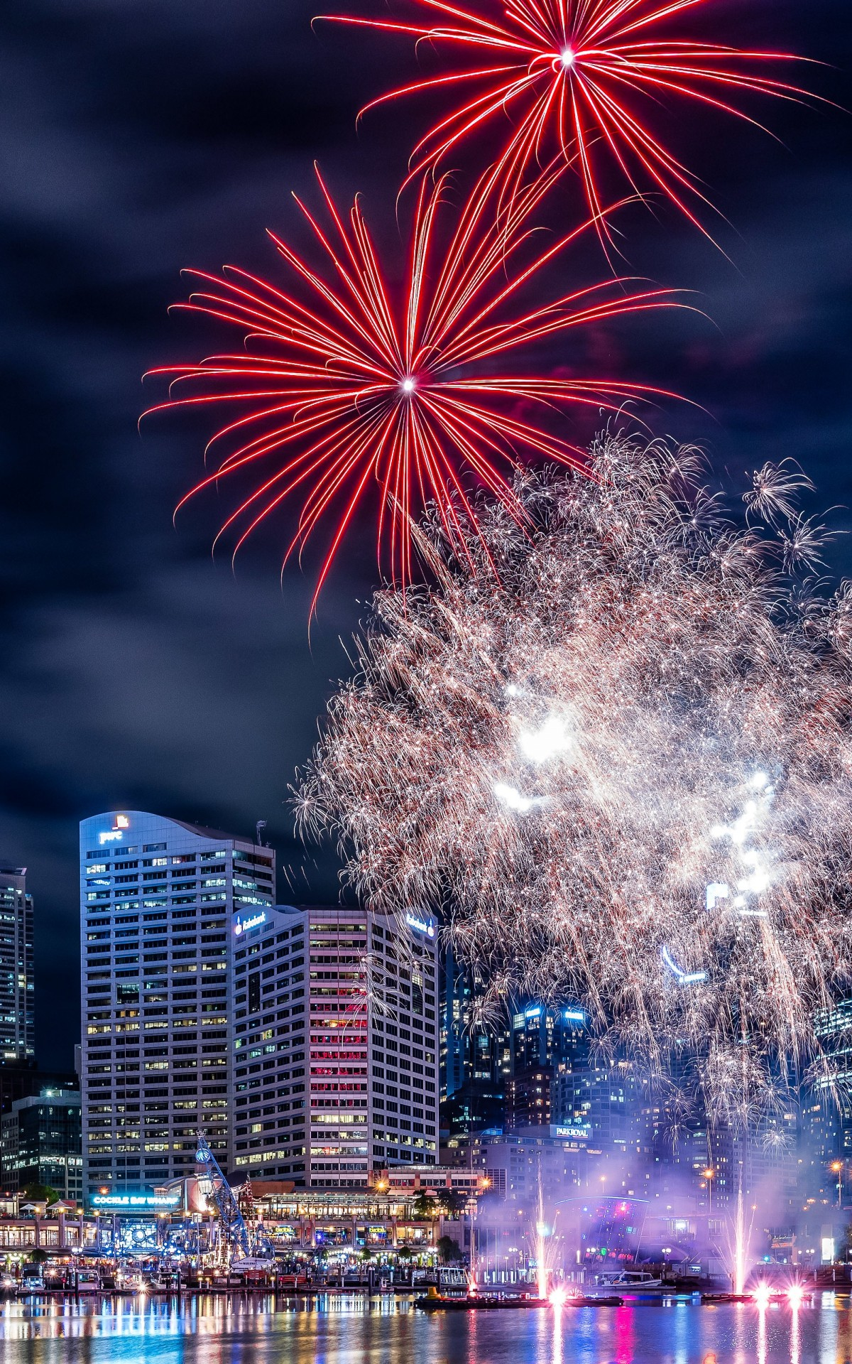 Fireworks In Darling Harbour Wallpaper for Amazon Kindle Fire HDX