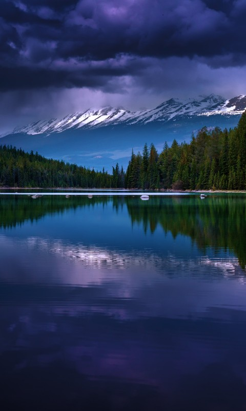 First Lake, Alberta, Canada Wallpaper for SAMSUNG Galaxy S3 Mini