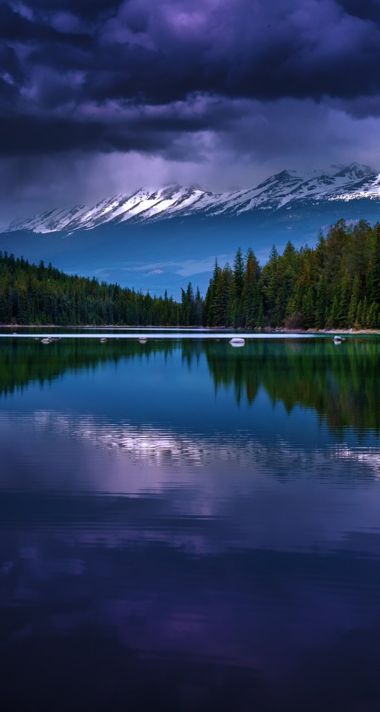 First Lake, Alberta, Canada Wallpaper for Apple iPhone 5 / 5s