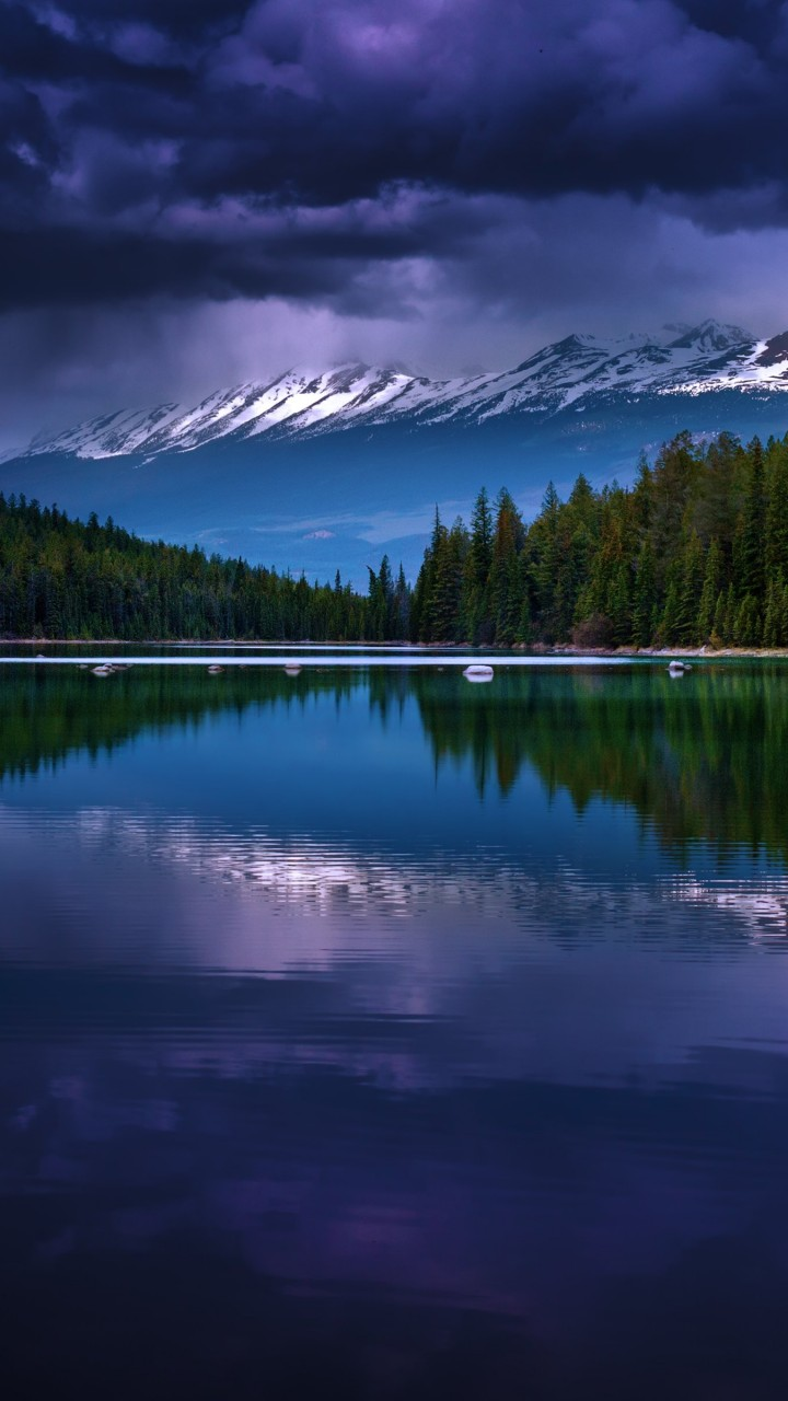 First Lake, Alberta, Canada Wallpaper for Xiaomi Redmi 1S