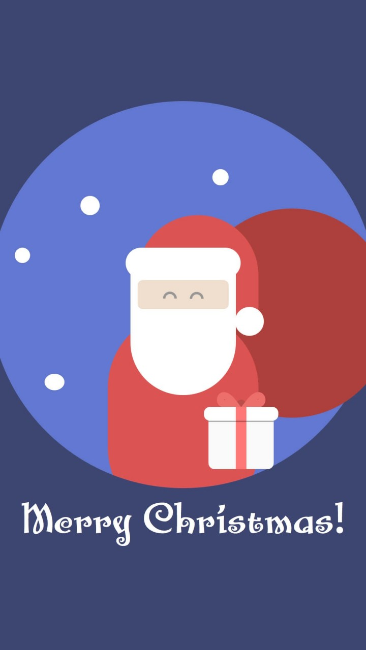 Flat Santa Wallpaper for Motorola Droid Razr HD