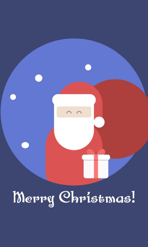 Flat Santa Wallpaper for SAMSUNG Galaxy S3 Mini