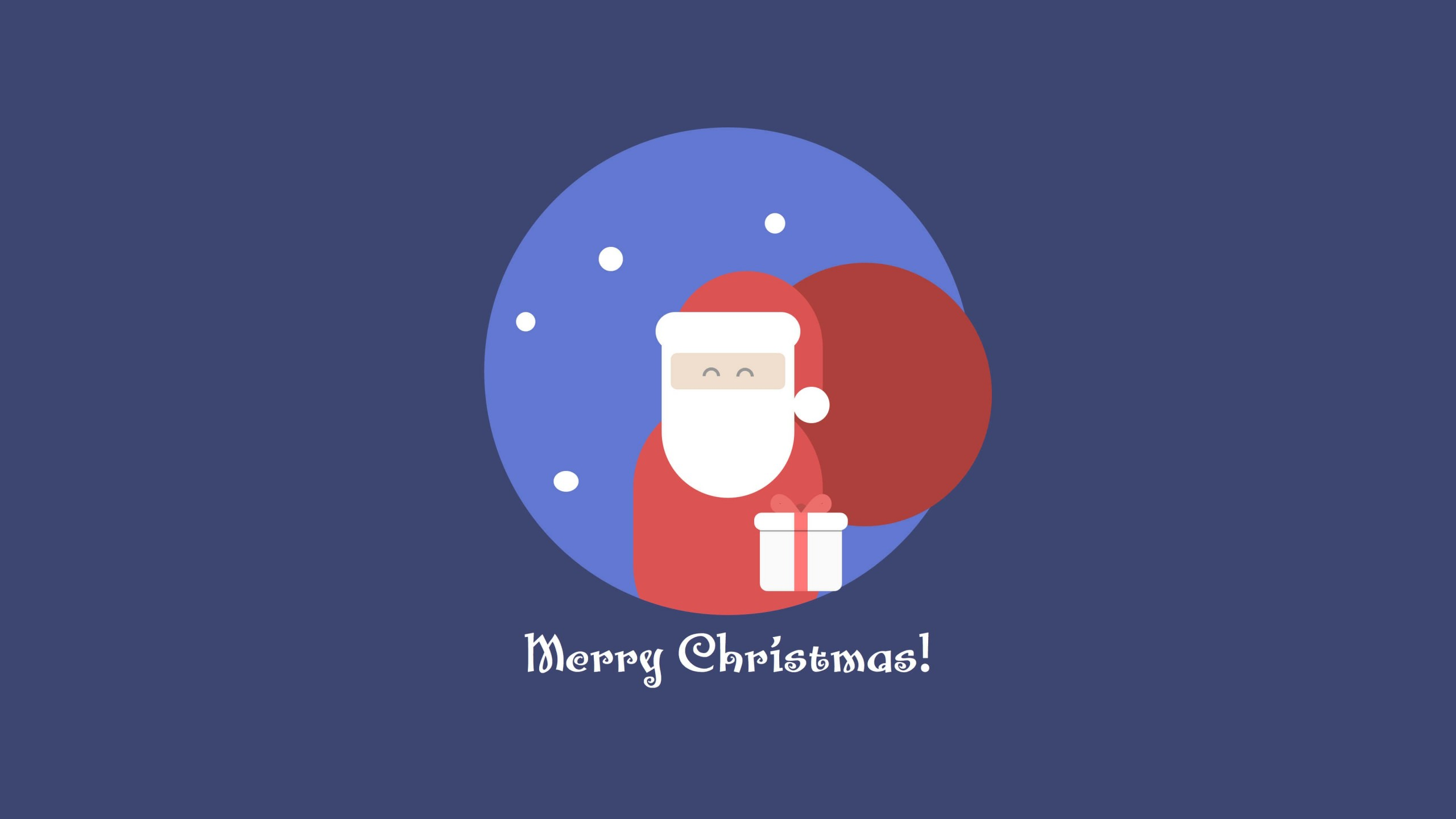 Flat Santa Wallpaper for Social Media YouTube Channel Art