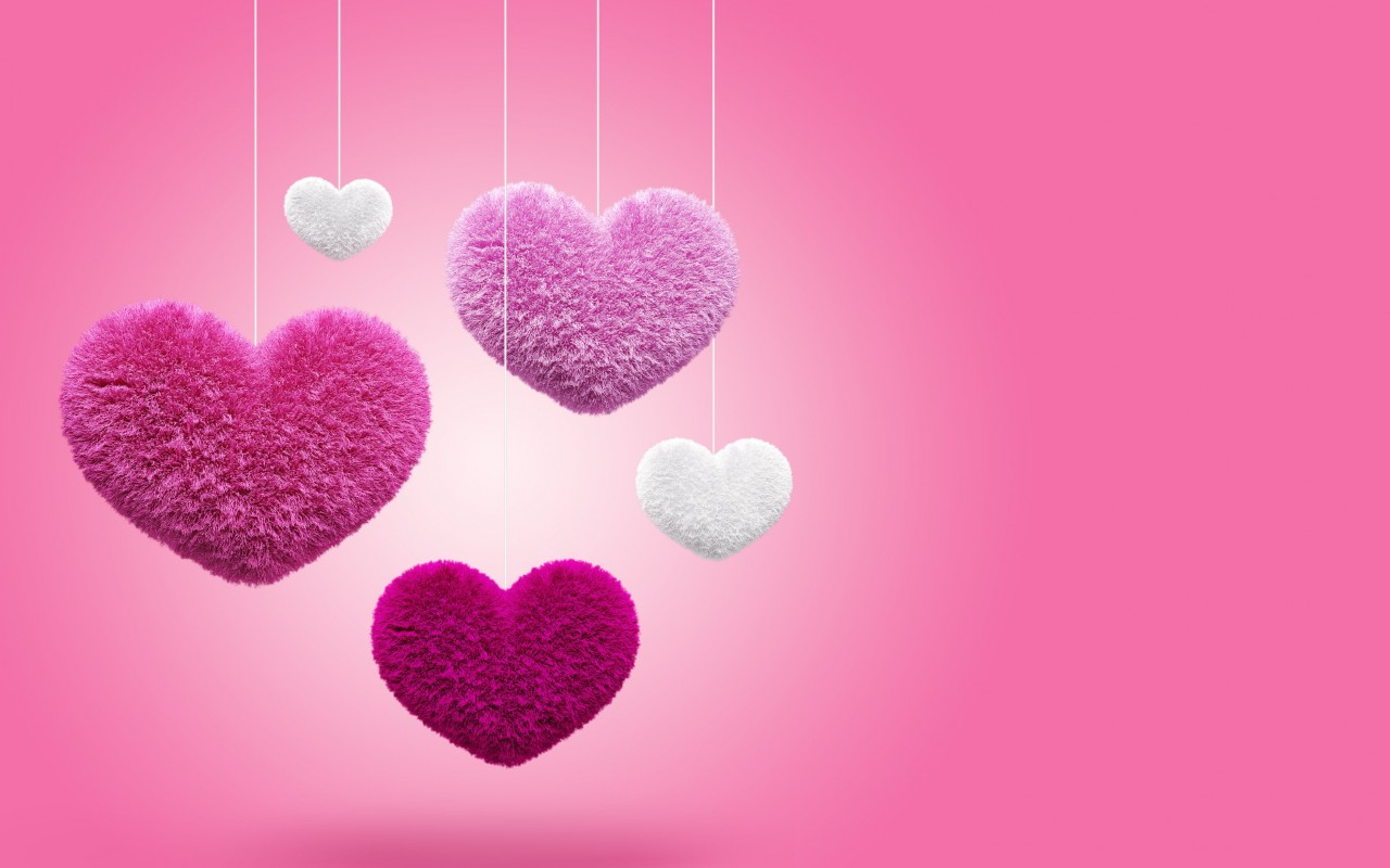 Fluffy Hearts Wallpaper for Desktop 1280x800