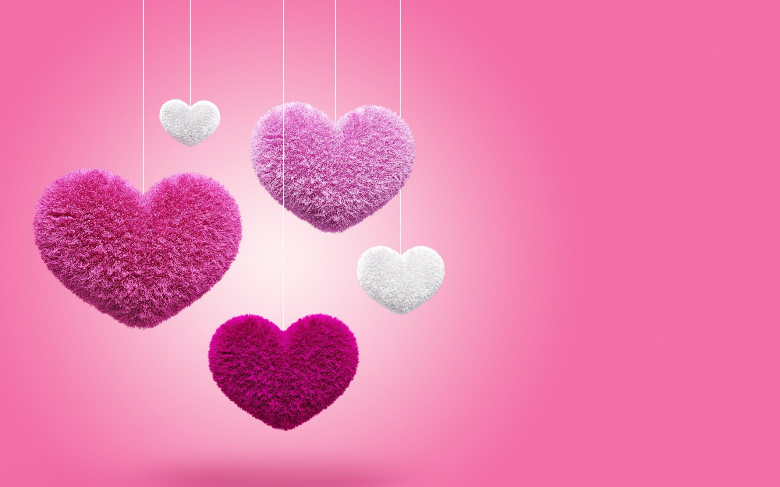 Fluffy Hearts Wallpaper for Desktop 2560x1600