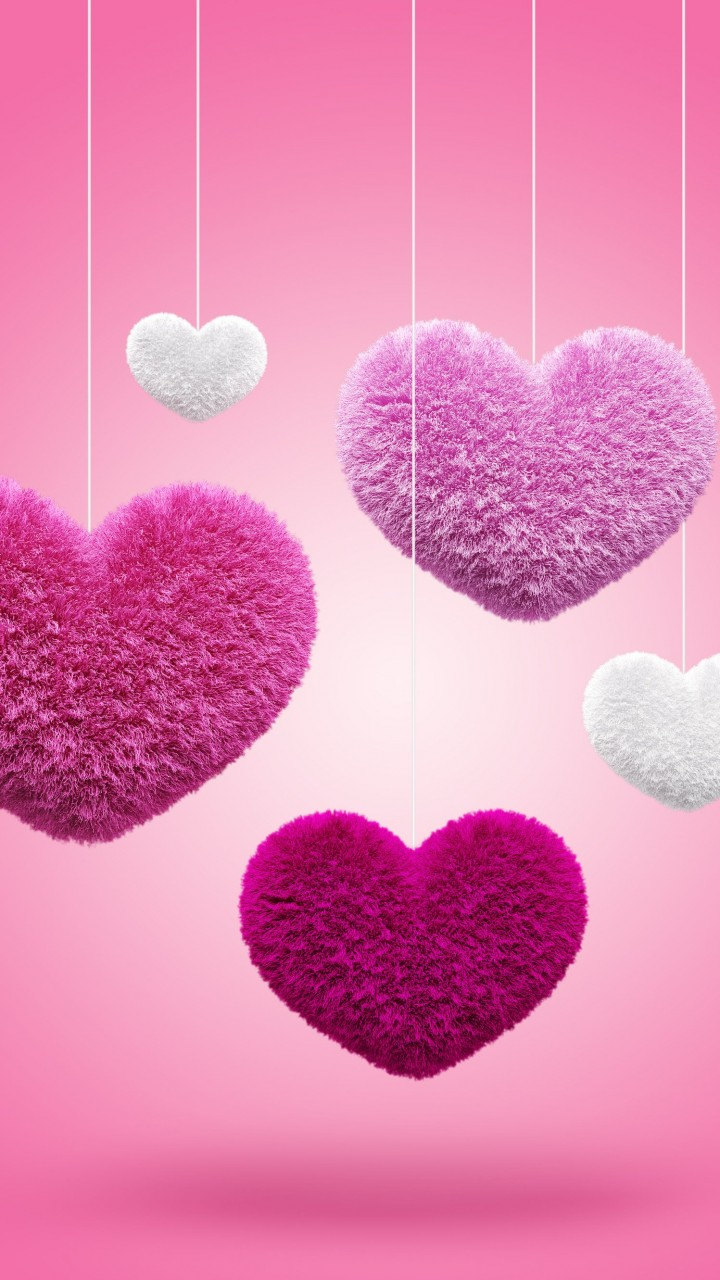 Fluffy Hearts Wallpaper for SAMSUNG Galaxy S3